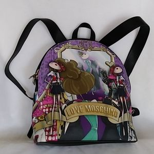 Lavender Love Moschino Backpack with Girls Print